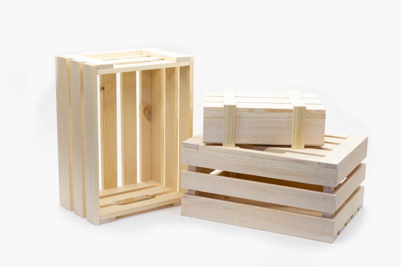 Деревянные декоративные ящики